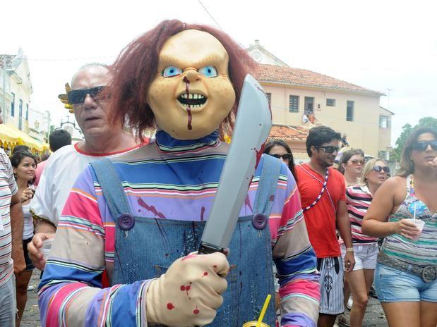 Filmes de terror inspiram fantasias no Carnaval de Olinda (Foto: Aldo Carneiro/Futura Press)