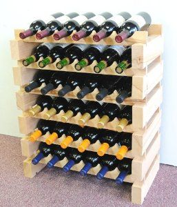 Amazon Com Wine Rack Wood 36 Bottles Modular Hardwood Wine Racks 6 Bottles X 6 Shelves Appli Armarios De Vinho Modelos De Adega Adega De Madeira