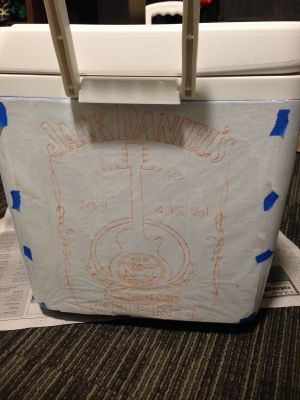 The Ultimate Cooler Painting Guide is part of Cooler painting, Diy cooler, Sorority coolers, Formal cooler ideas, Ultimate cooler, Frat coolers - Ladies, it is that time of year again! Cooler Painting Season    er, I mean Away Formal season
