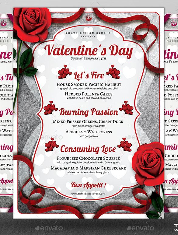 41 Valentines Menu Templates Free Psd Eps Format Throughout Free Valentine Menu Templates Menu Template Free Menu Templates Valentines Printables Free