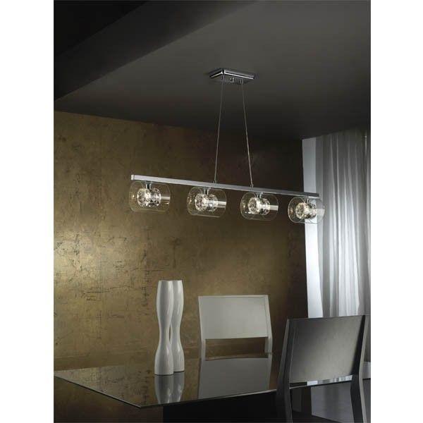 Lámpara lineal perfecta para colocar encima de una mesa alargada ...