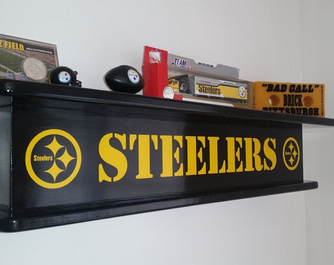 afba168f Solid Wood Decorative Pittsburgh Steelers Bench Man Cave Rec Room ...
