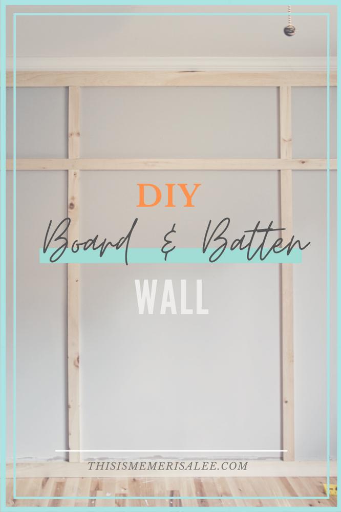 DIY Board & Batten wall reveal