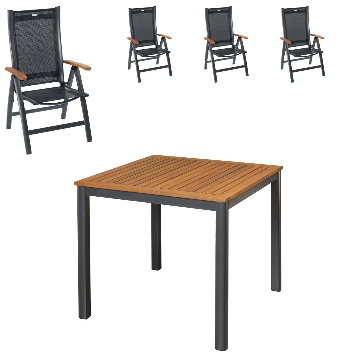 Gartenmöbel Set San Francisco/Sun Garden Prestige (90x90, 4 Stühle