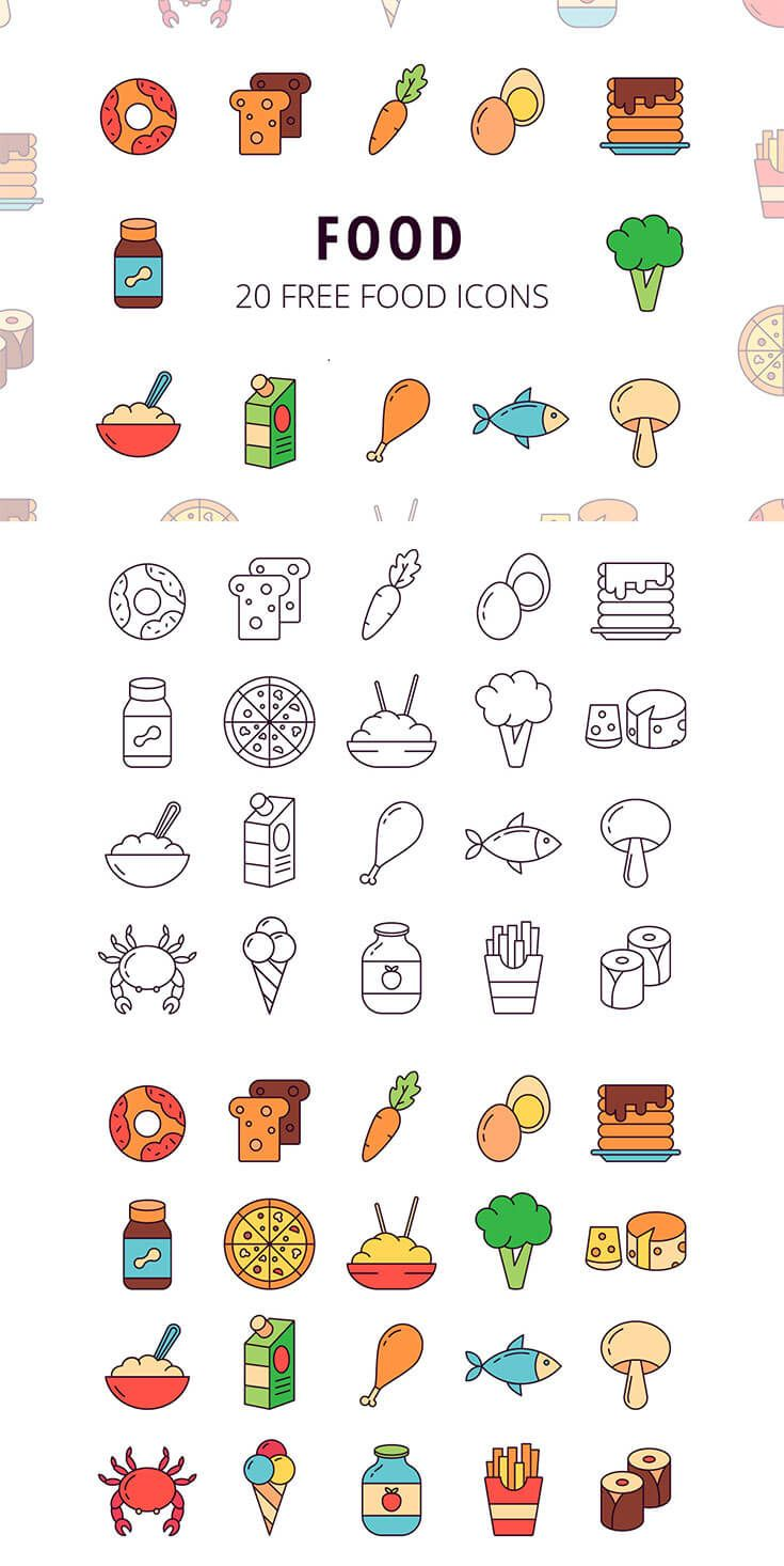 Free Food Vector Icon Set via @creativetacos