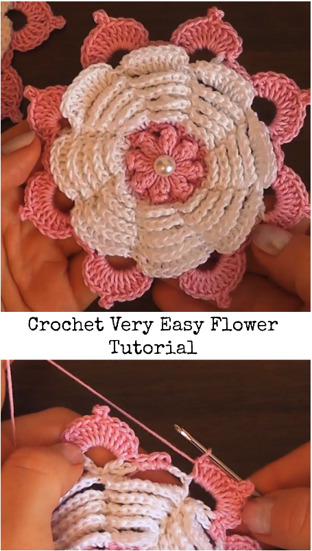 Easy Flower Crochet Pinterest Flower Easy And Crochet