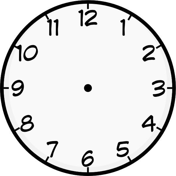 clock template printable Purzen Clock Face clip art - vector - blank face templates