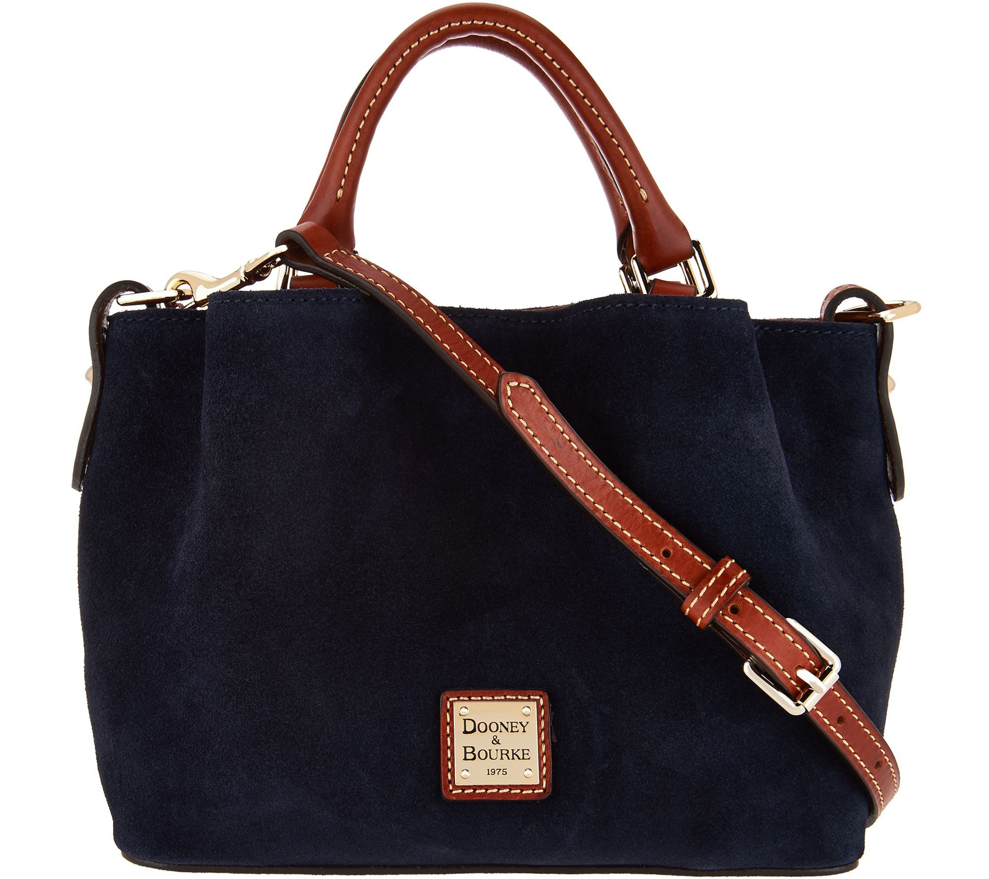 5bccf9e37fb Dooney   Bourke Suede Mini Barlow Handbag - Page 1 — QVC.com