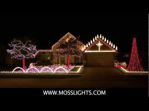 Complete 2011 Christmas Light Show LOR Light-o-rama MossLights
