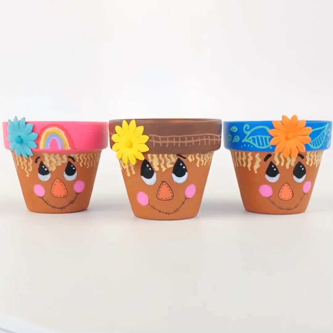 Photo of Scarecrow Flower Pot Craft