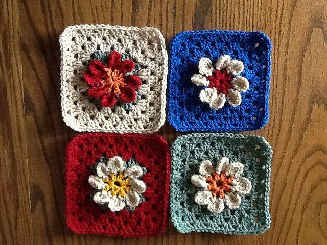 Maryellens Easy Daisy Granny Square Free Pattern Color
