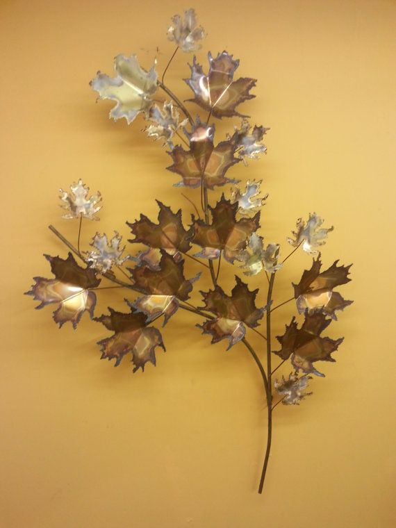 Curtis Jere vintage Mid Century Modern maple leaf wall hanging art ...