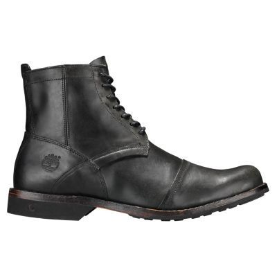 MEN'S TIMBERLAND EARTHKEEPERS 6 Black Leather City Side Zip