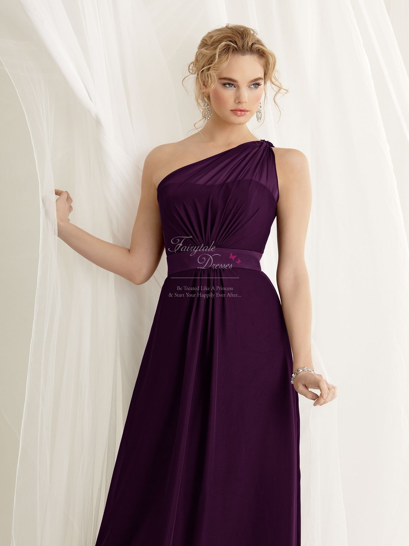 One shoulder strap cadburys purple bridesmaid dress 12019 purple jordan 471 chocolate brown size 12 one shoulder bridesmaid dress ombrellifo Image collections