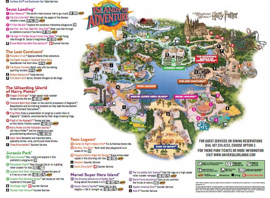 Islands Of Adventure Island Of Adventure Orlando Universal Studios Orlando Map Islands Of Adventure