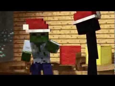 Minecraft Weihnachts EnderMan und Zombie