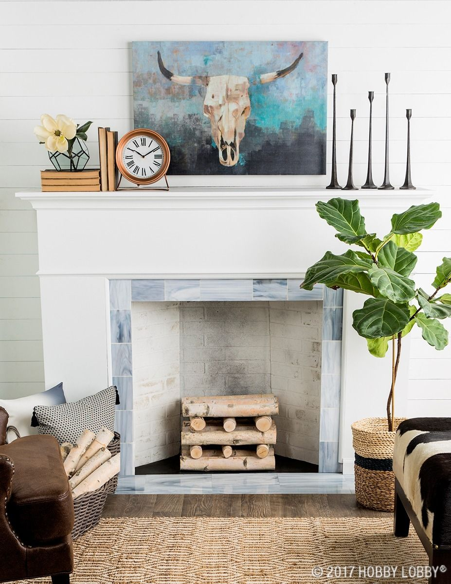 Incorporate Eye Catching Eclectic Pieces Into Your Decor For A Modern Mantel Makeover