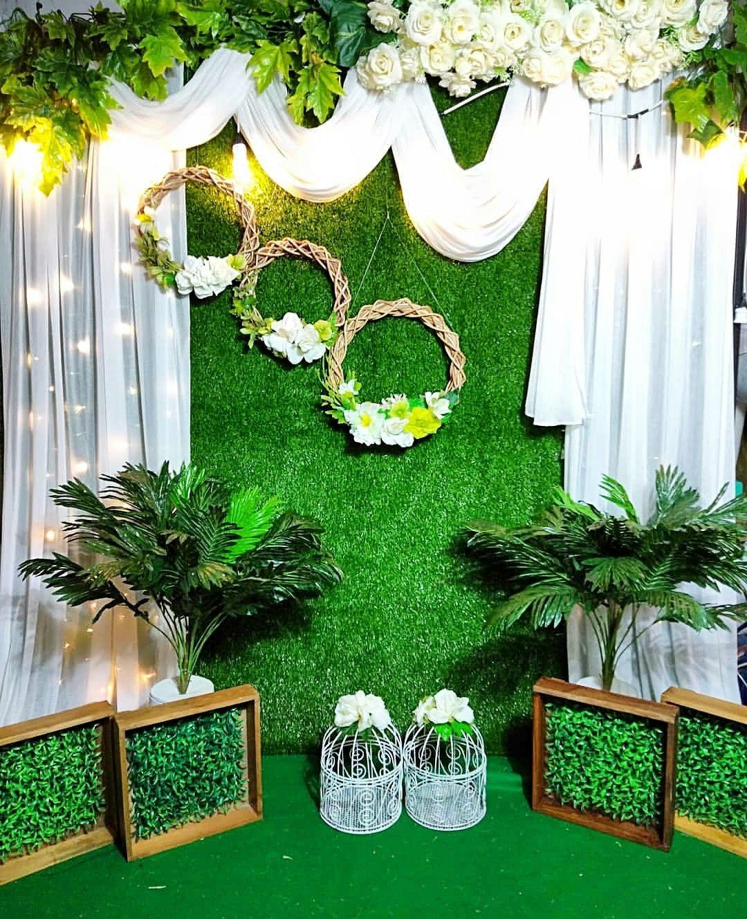 Backdrop Lamaran Surabaya | Wedding Background Decoration, Desi Wedding  Decor, Wedding Stage Decorations