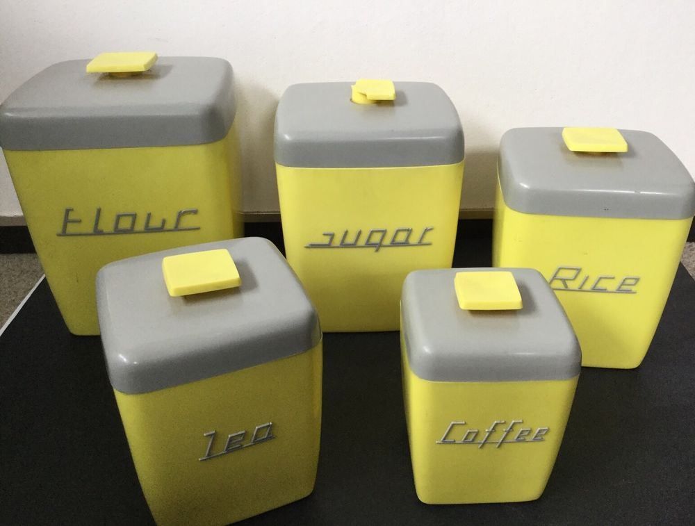 canister sets australia nally ware yellow and grey canister set can all do with