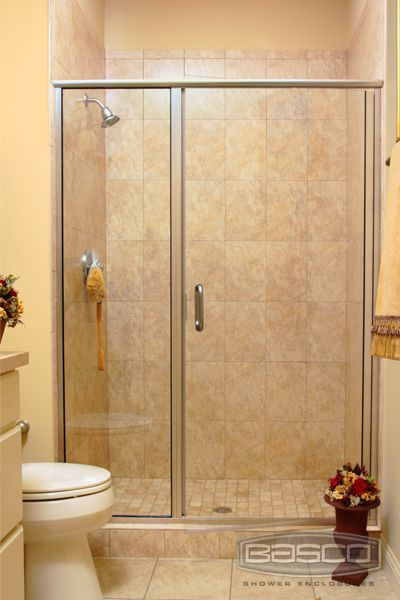 Basoc Shower Enclosures Infinity Frameless Continuous Hinge Door