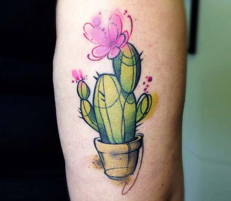 Cactus Tattoo By Claudia Denti Cactus Tattoo Tattoos Cactus