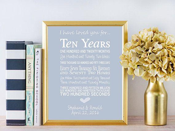 10th Year Wedding Anniversary Gift: 10th Wedding Anniversary Gift