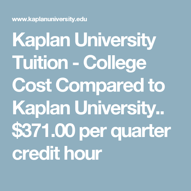 Kaplan University Tuition >> Kaplan University Tuition College Cost Compared To Kaplan