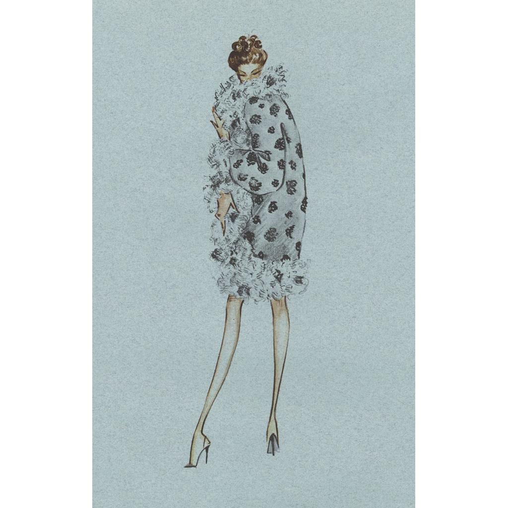 Valentino Fashion Dress Design Print From Limited Edition Series Print Design Print Vintage Prints