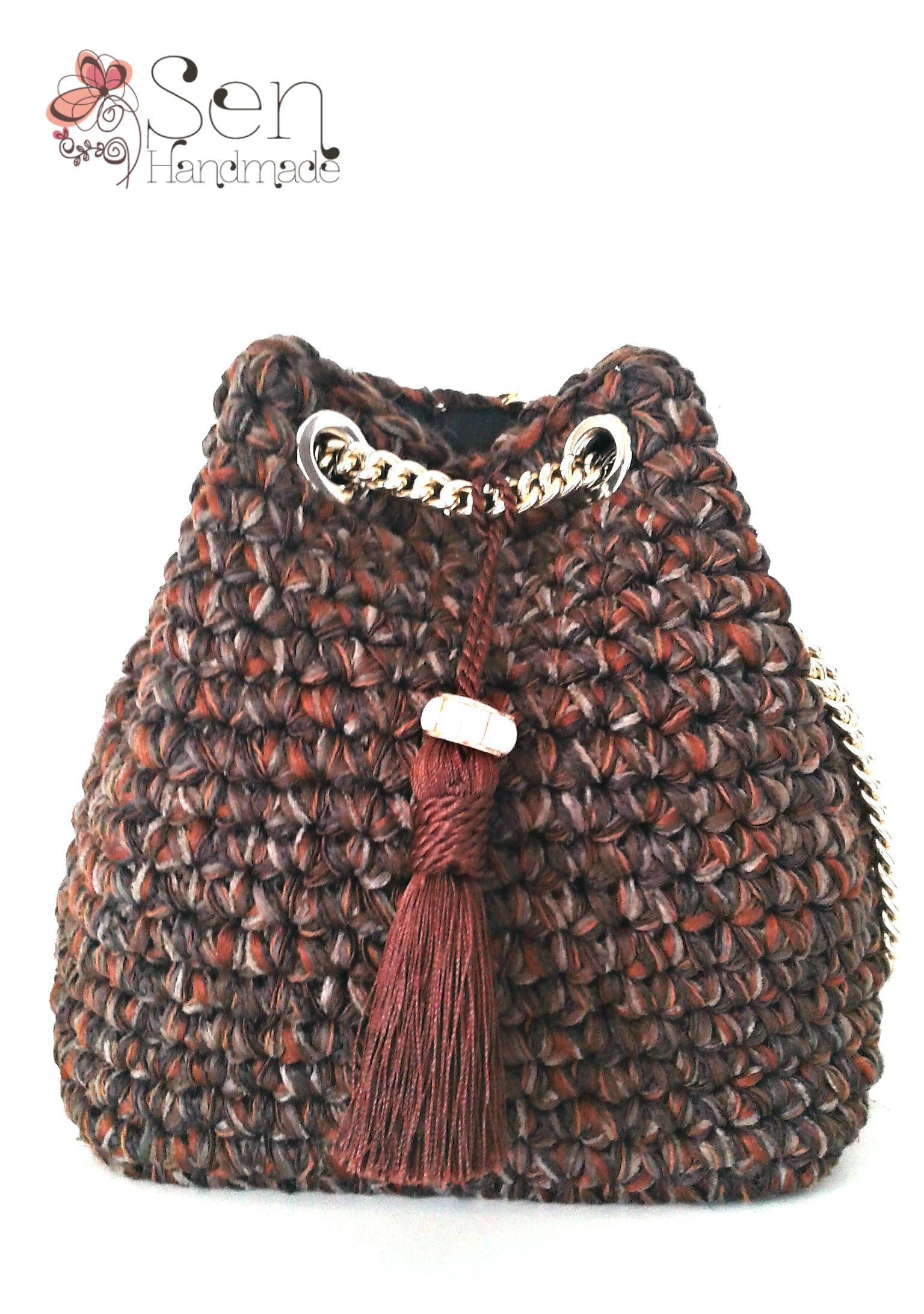 mini pouch bag in brown shades