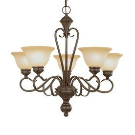 for over dining room table: Millennium Lighting Devonshire 5-Light Burnished Gold Chandelier