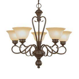 for over dining room table: Millennium Lighting Devonshire 5-Light Burnished Gold Chandelier