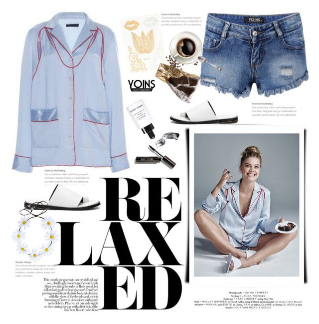 """""""Relaxed with Yoins"""" by naki14 ❤ liked on Polyvore featuring Alexander Wang, Giorgio Armani, Bobbi Brown Cosmetics, yoins, yoinscollection and loveyoins"""
