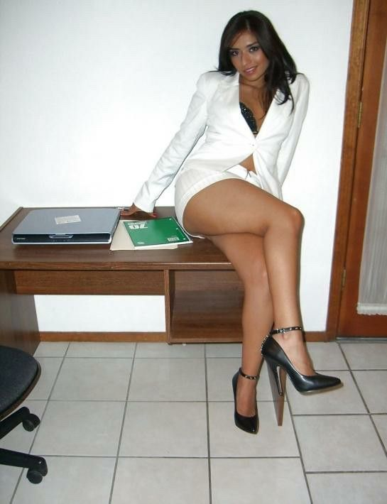 Sexy legs in office