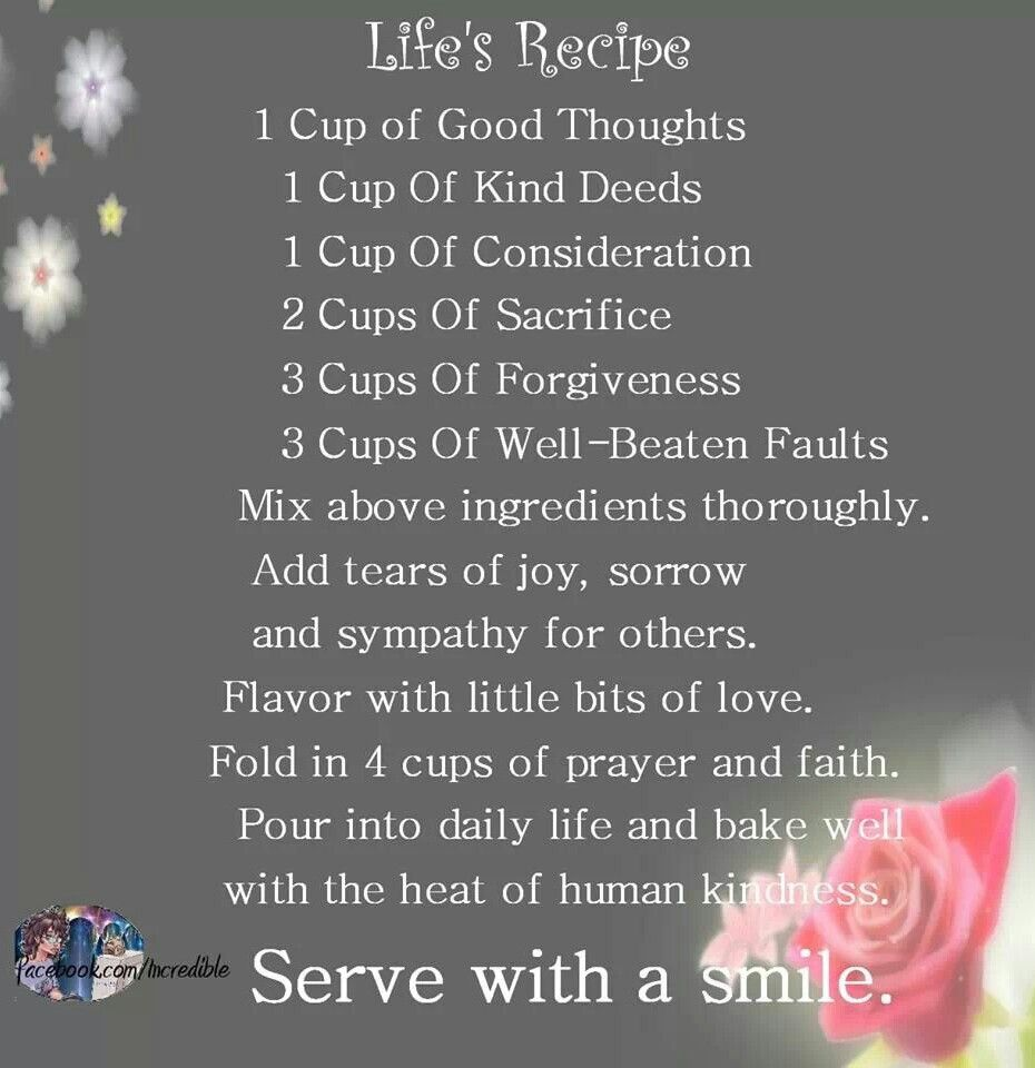 The Recipe for Life