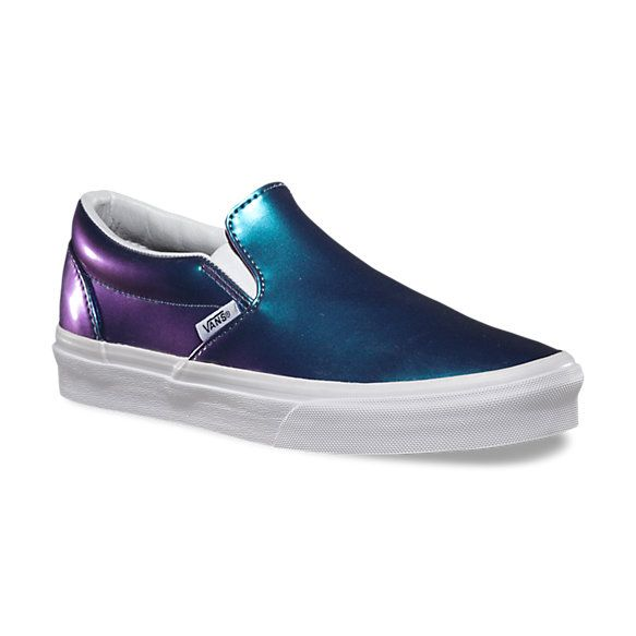 8796bc935ad08a Vans Patent Leather Slip-On in Blue. Because it s patent leather ...
