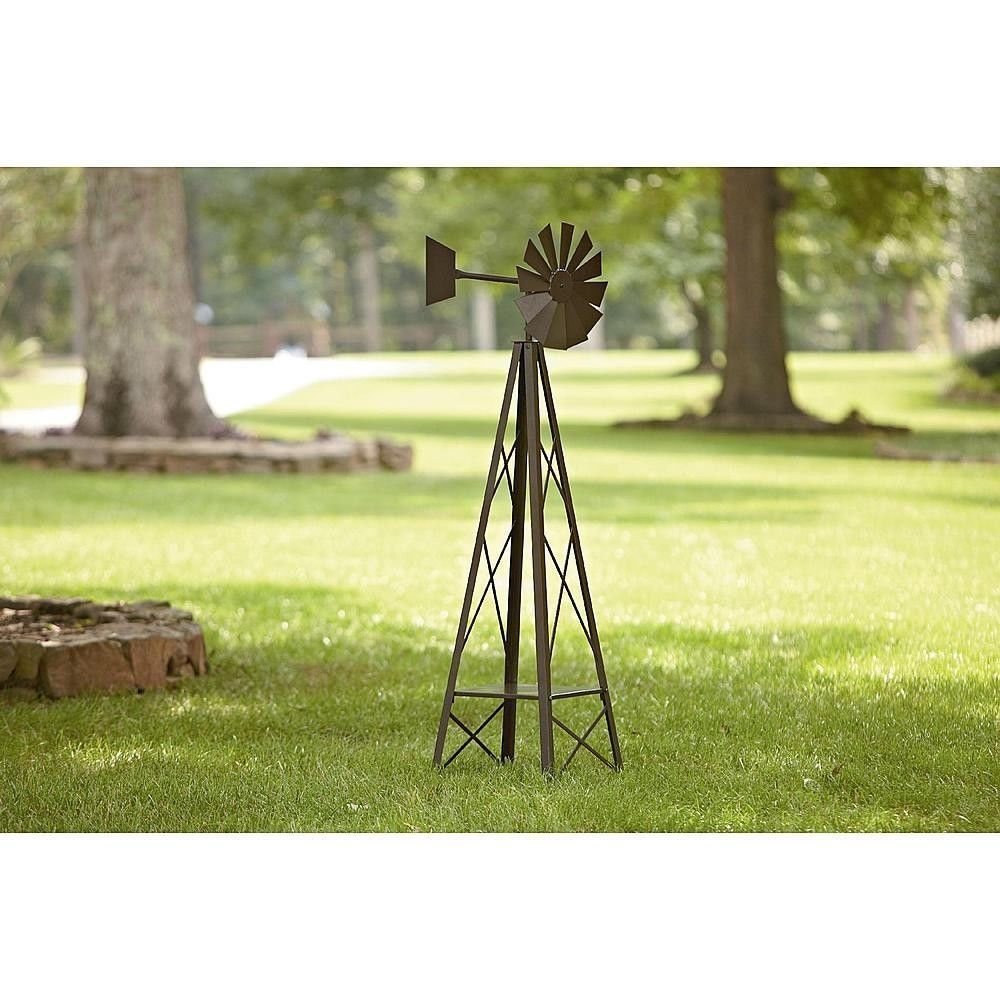 5 FT Metal Wind Spinner Outdoor Garden Lawn Windmill Patio Yard Home  Decoration