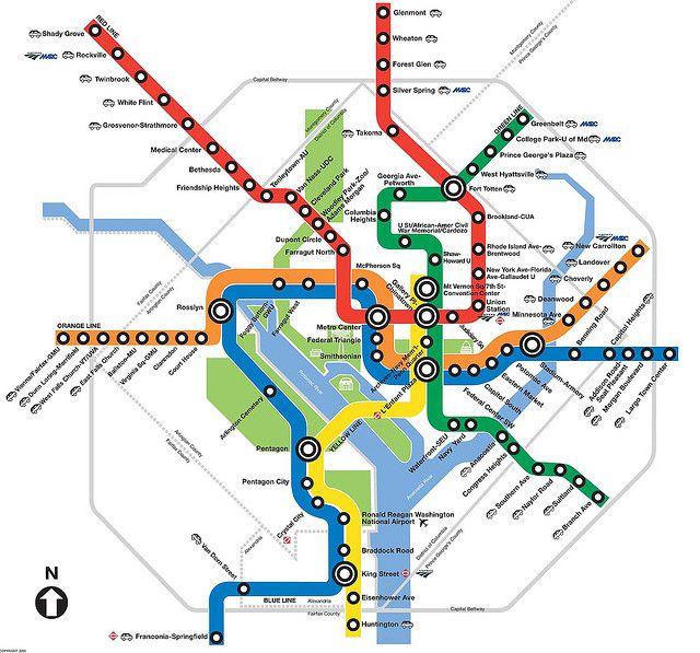 Metro Map Washington Dc Washington DC Metro Map (With images) | Washington metro