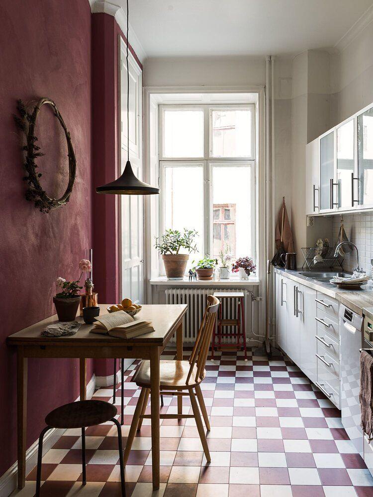 Earth Tones in a Warm Scandinavian Apartment #apartmentroom