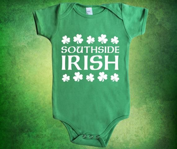 A Wee Bit Irish CUSTOM NAME Infant Toddler Baby Cotton Bodysuit One Piece