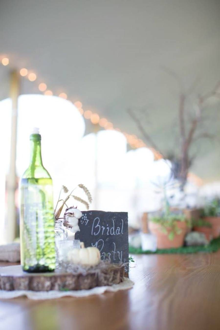 Fall Wedding Centerpieces; DIY Wine Bottle & Wick; Wood Cookie ...