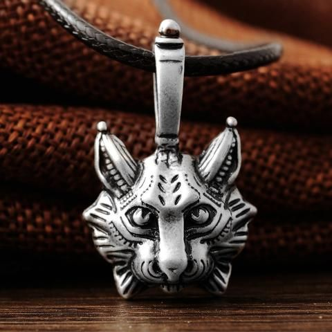 Vintage Lynx Bobcat Pendant Necklace