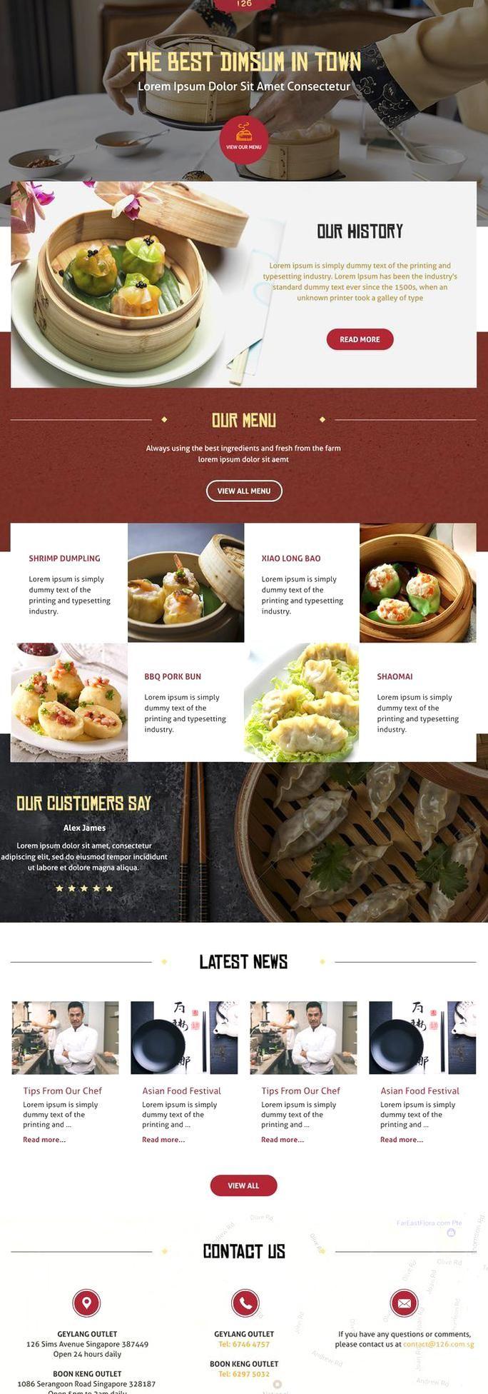 Dimsum Online Shop Design Restaurant Chinese Food In 2020 Food Website Design Inspiration Food Website Design Food Web Design