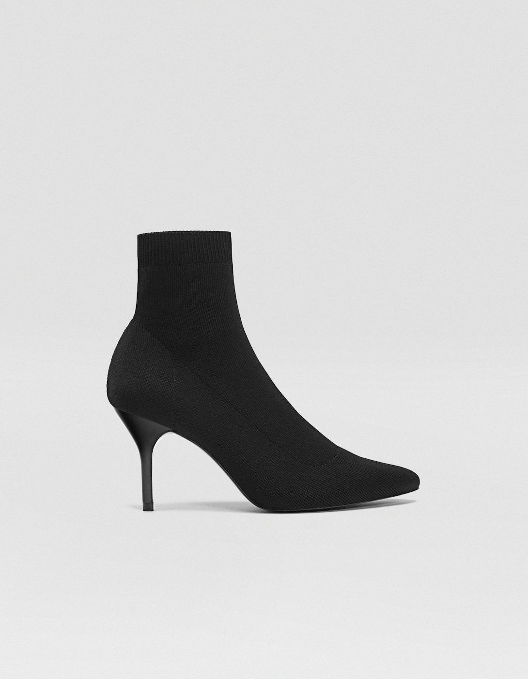 Black Fabric Stiletto Heel Ankle Boots Boots And Ankle Boots Stradivarius United Kingdom Boots Heels Stiletto Heels