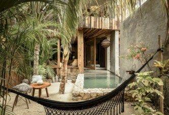 41 cozy tropical beach villa design ideas