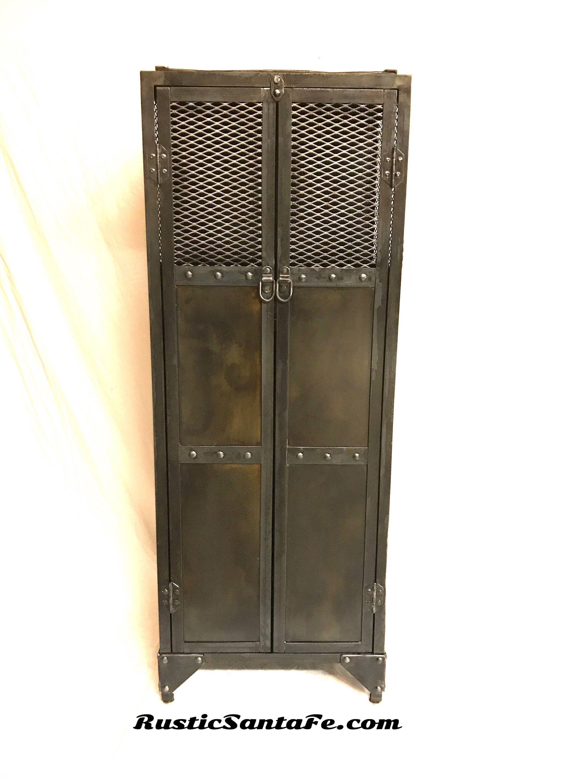 Industrial Floating Wine Cabinet, Wine Locker, Metal Liquor Cabinet, Vintage  Locker, Pantry