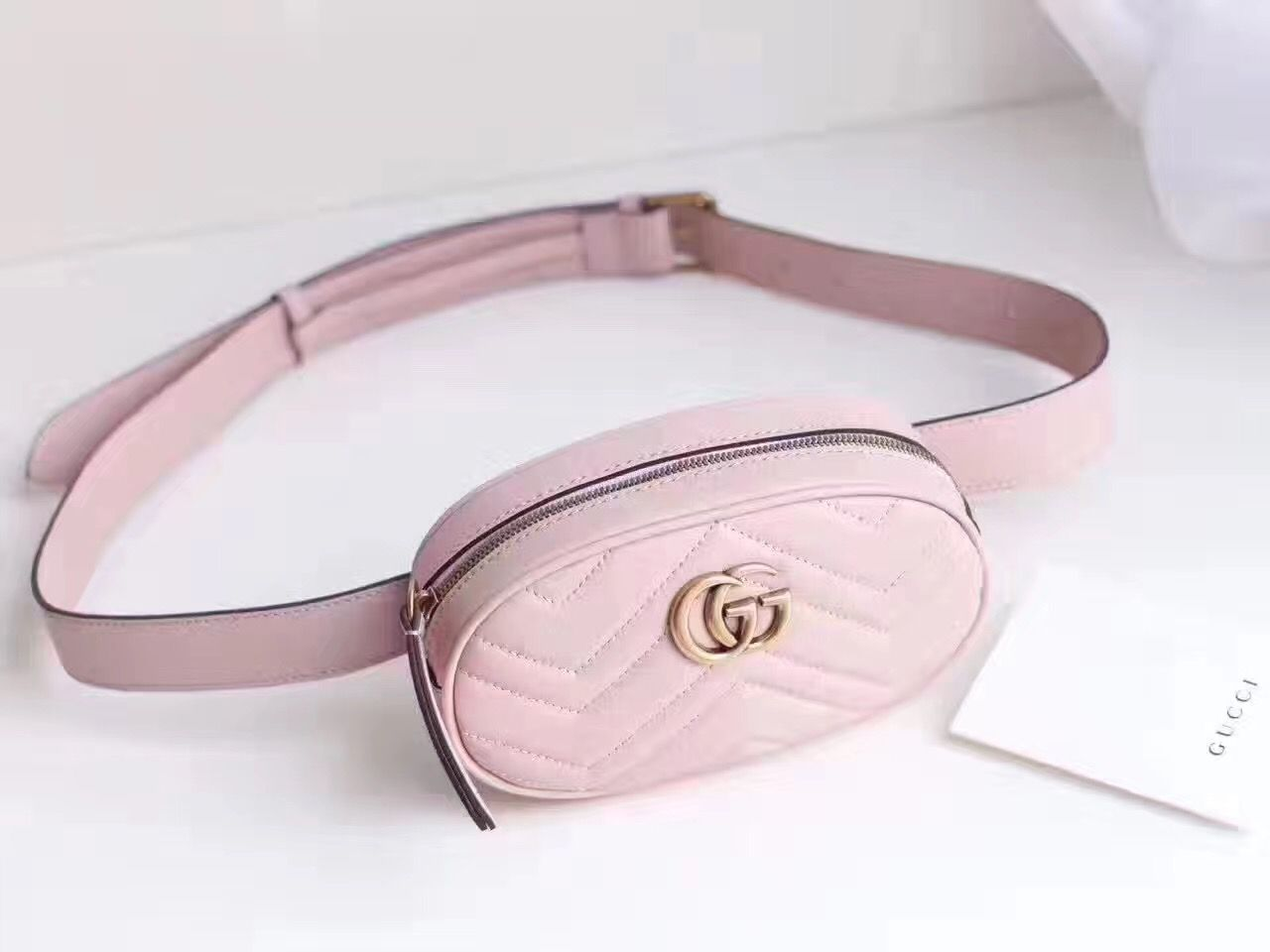 e17d26c6360 Gucci woman marmont waist bag original leather