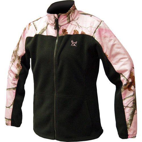 Realtree Ladies Black / Camo Polar Fleece Jacket - Jackets & Coats ...