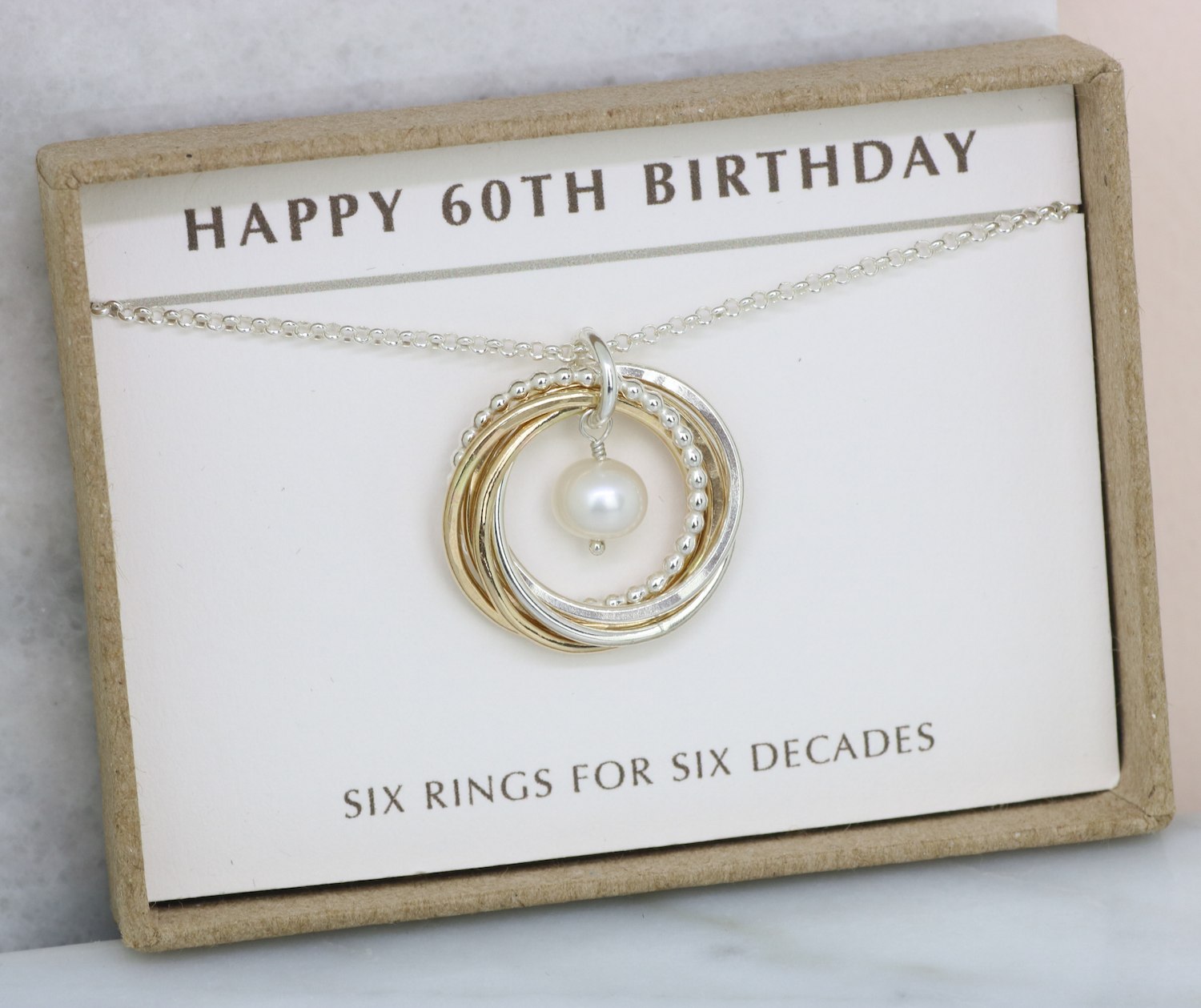 60th Birthday Gift Idea June Pearl Necklace For