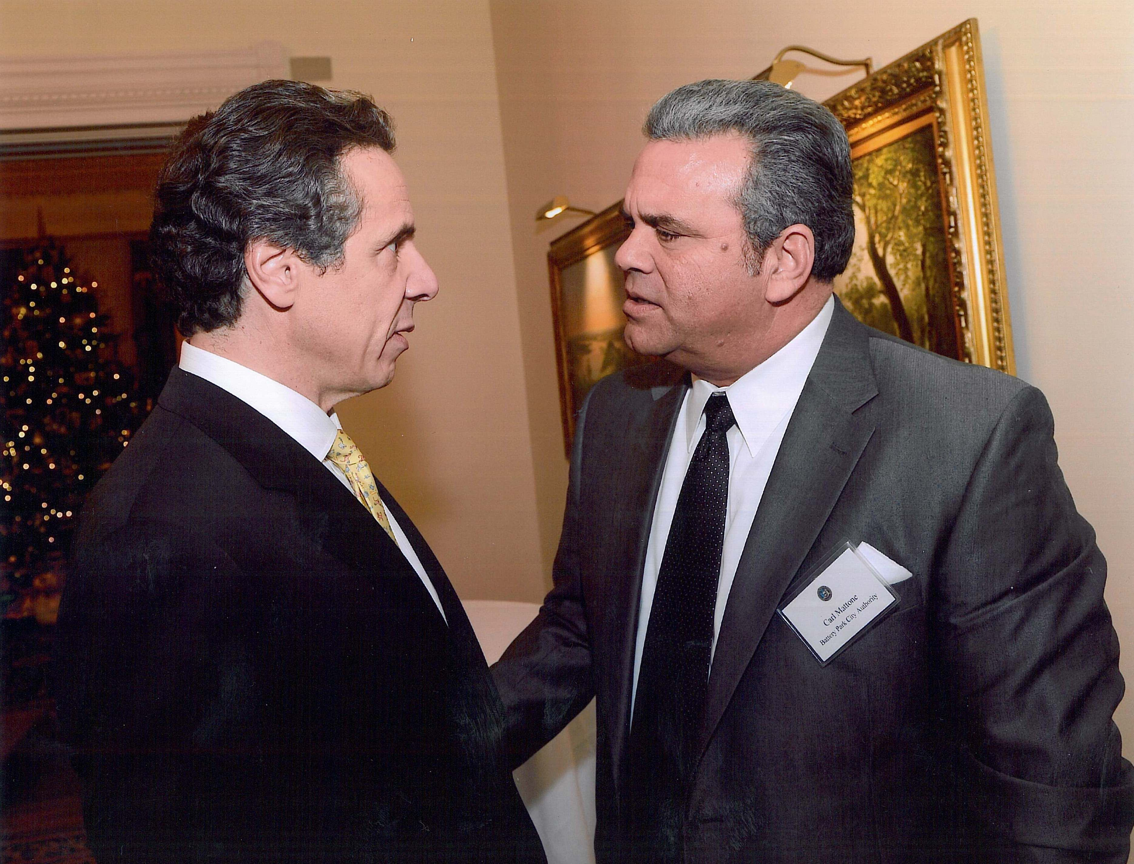 New York Governor Andrew Cuomo And Battery Park Authority Board Member Carl Mattone Andrewcuomo Carlmattone Andrew Cuomo Governor New York