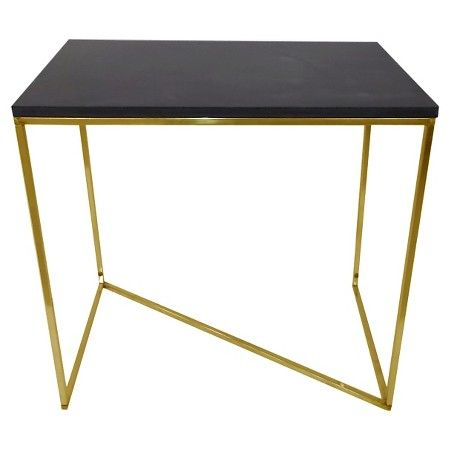 Stepney End Table Brass And Black Threshold Target